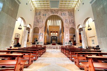 Interior of Cathedral of Santa Maria Assunta, Benevento, Campania, Italy.