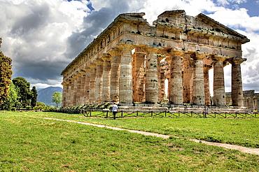 Temple of Poseidon (450 BC), Paestum, Campania, Italy.