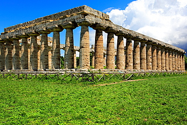 Temple of Hera (550 BC), Paestum, Campania, Italy.