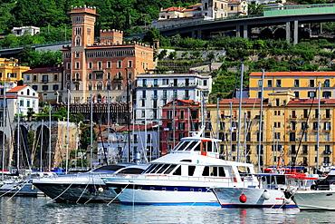 Salerno harbor, Campania, Italy.