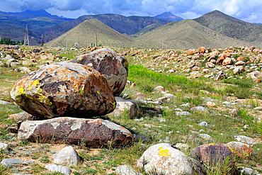 Cholpon Ata petroglyphs, Issyk Kul oblast, Kyrgyzstan.