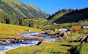 Altyn Arashan river and valley, Issyk Kul oblast, Kyrgyzstan.