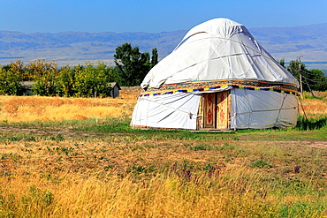 Nomads tent (yurt), near Burana tower, Chuy oblast, Kyrgyzstan.