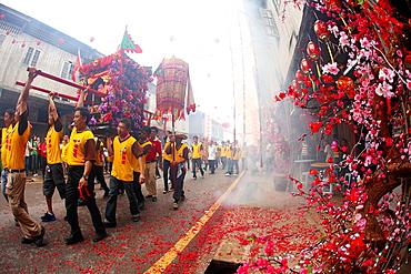 Chinese New Year Festival Capgomeh celebration, kuching, sarawak, malaysia, borneo.