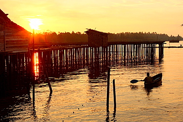 Scenic View of Sun Rise, Sarawak, Borneo.