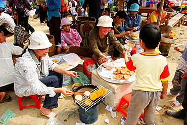 Hmong market. Bac Ha. Sapa region. North Vietnam.