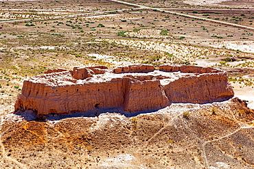 Ayaz Kala Fortress 2, photo taken from Ayaz Kala Fortress 1, Ayaz Kala, Khorezm, Uzbekistan.