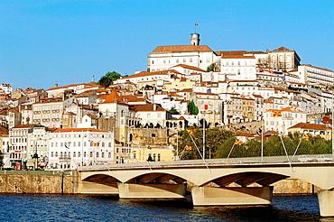 Portugal, Coimbra, Mondego river university, Santa clara bridge.
