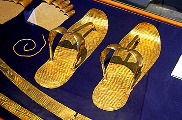 Sandals, Tutankhamun's treasure, Museum of Egyptian Antiquities, Cairo, Egypt,