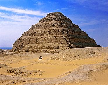 The Step Pyramid of Djoser or Zoser, Saqqara, Egypt,