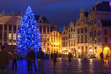 Grand Place during Christmas time Brusels Belgium