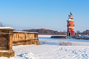 The lighthouse in Moritzburg is the only inland lighthouse in Saxony. It was built in the late 18th century as part of a backdrop for trailing naval battles. The Lighthouse is located on the western shore of Niederen Grossteich in Moritzburg near Dresden, administrative district Meissen, Saxony, Germany, Europe.