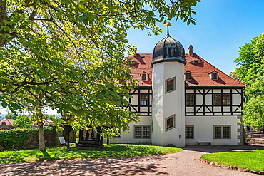Summer residence Castle Hoflossnitz is a building in the wine-growing area in Radebeul near Dresden, Saxony, Germany, Europe.