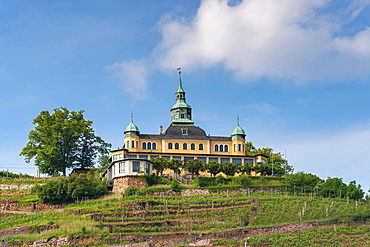 The Spitz House is a former summer house in the wine-growing area of Radebeul. It is a landmark of the city of Radebeul near Dresden, administrative district Meissen, Saxony, Germany, Europe.