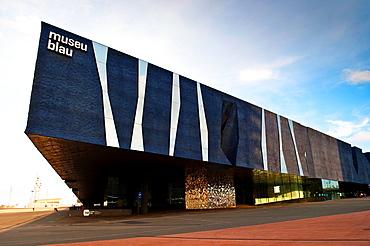 Museu Blau, Blue Museum, Natural History and Science Musuem, Barcelona, Catalonia, Spain.