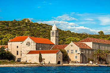 Franciscan monastery of Mary's Assumption on Badija island, Croatia.