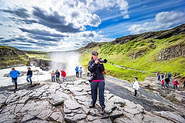 Gullfos Waterfalls, Iceland.