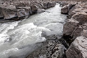 Hvita River in Borgarfjordur fjord, Iceland