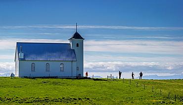 The Church of Flatey, Flatey Island, Borgarfjordur, Iceland.