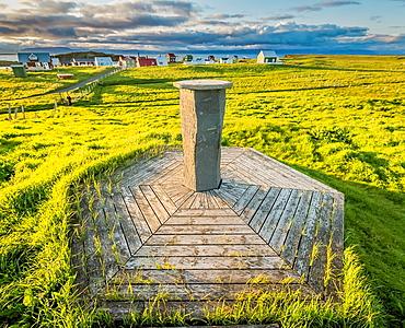 Marker, Flatey Island, Borgarfjordur, Iceland.