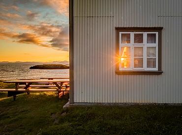Sunset, Flatey Island, Borgarfjordur, Iceland.