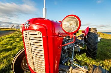 Farm tractor, Flatey Island, Borgarfjordur, Iceland.