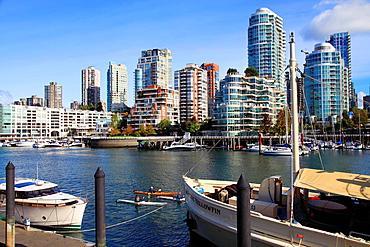 Canada, Vancouver, skyline, False Creek, Granville Island,.