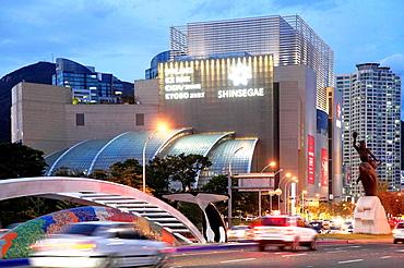 South Korea, Busan, Centum City, Shinsegae department store,.
