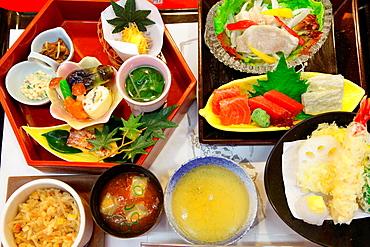 Japan, Osaka, restaurant, window display,.