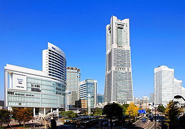 Japan, Yokohama, Minato Mirai, Landmark Tower,.