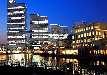 Japan, Yokohama, Minato Mirai, skyline,.