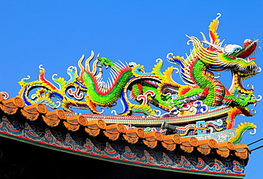 Japan, Yokohama, Chinatown, Kanteibyo, Chinese temple,.