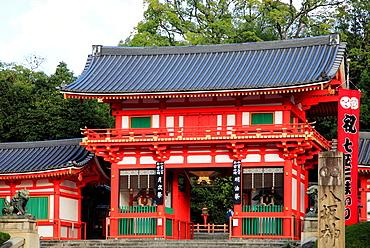 Japan, Kyoto, Yasaka Shinto Shrine,.
