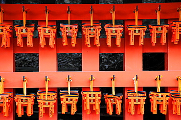 Japan, Kyoto, Fushimi Inari Taisha Shrine, votive offerings,.