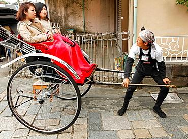 Japan, Kyoto, Arashiyama, rickshaw, people,.