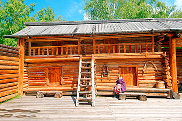 Country wooden estate. 'Taltsa's' (Talzy), Irkutsk architectural and ethnographic museum. Baikal, Siberia, Russian Federation.