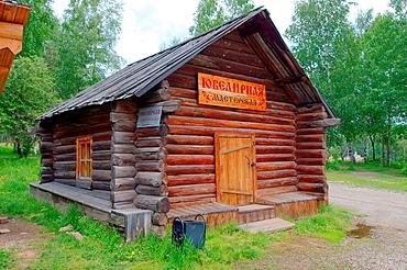 Country wooden estate. 'Taltsa's' (Talzy), Irkutsk architectural and ethnographic museum. Baikal, Siberia, Russian Federation.