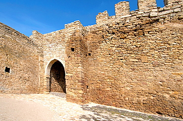 Gate, Akkerman fortress (white rock, white fortress), Belgorod-Dnestrovskiy, Ukraine, Eastern Europe.