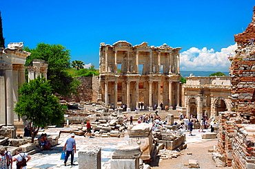 Library of Celsus, antique city of Ephesus, Efes, Turkey, Western Asia.