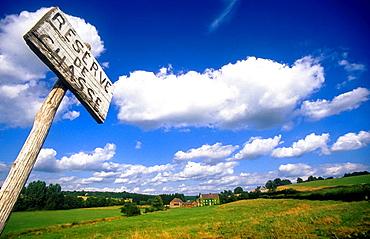 countryside in Bourgogne, France