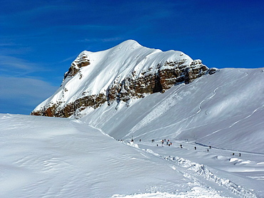 skipiste at Flaine, France