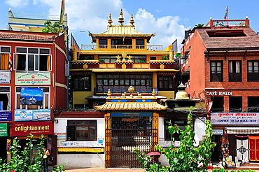 Buddhist monastery near Boudhanath Stupa, Kathmandu, Nepal