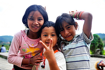 Children, valley of Kathmandu, Nepal