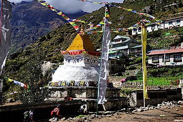 Stupa, Namche Bazaar, Khumbu area, Solukhumbu District, Sagarmatha Zone, Nepal