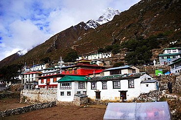 Pangboche village, Sagarmatha National Park, the Himalaya range, Khumbu area, Solukhumbu District, Sagarmatha Zone, Nepal