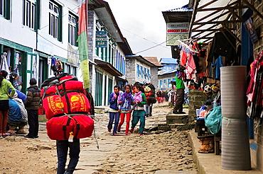 Lukla, the Himalaya range, Khumbu area, Solukhumbu District, Sagarmatha Zone, Nepal.