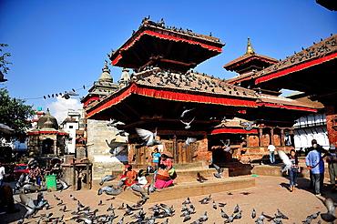 Hindu temples, Durbar Square, Kathmandu, Nepal