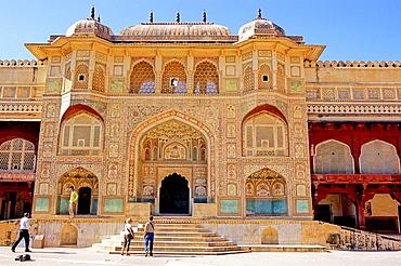 Ganesh Pol entrance, Amber Fort or Amer Palace, next to Jaipur, Rajasthan state, India