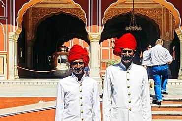 Wardens, City Palace, Jaipur, Rajasthan state, India