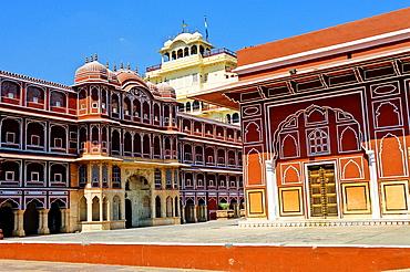 Chandra Mahal on City Palace, Jaipur, Rajasthan state, India
